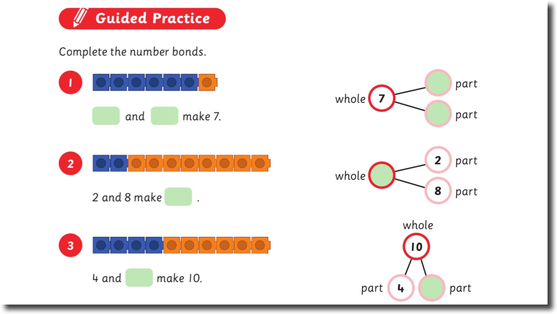 think Mathematics - Guided Practice from Grade 1A Chapter 2 Lesson 1